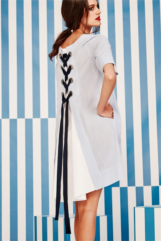STRIPE-AHOLIC DRESS