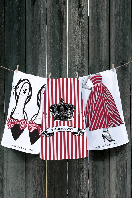 BOW SHOES TEATOWEL SET