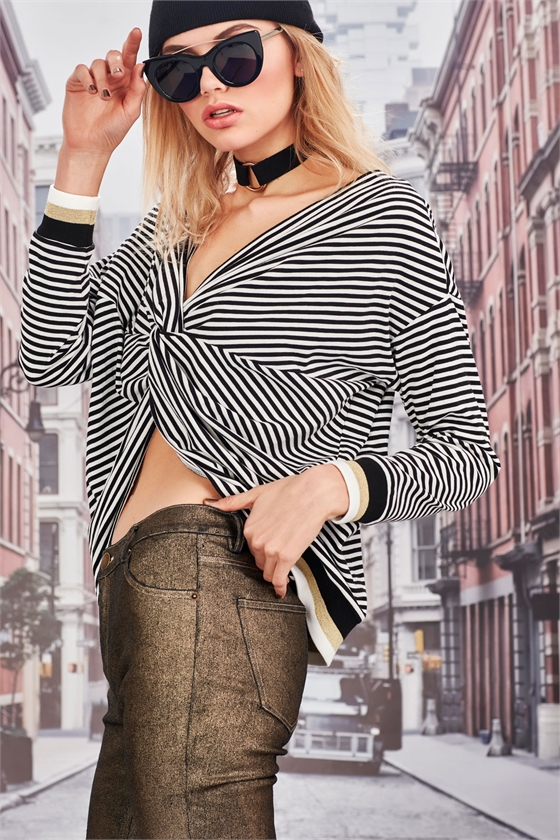 HOT AND STRIPEY TOP